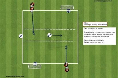 158 2 Goal Dribbling & RWTB Practice