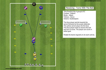 259 Receiving: Turns With The Ball