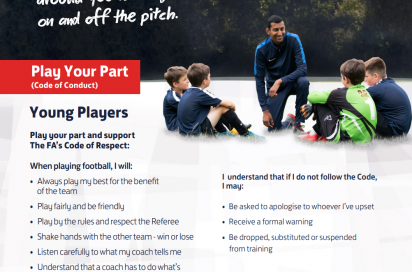 The FA Respect Code Of Conduct for Youth Players